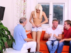 Dude Assists With Hymen Checkup And Drilling Of Virgin Kitte