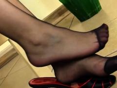 dirty diana teasing in black pantyhose WWW.ONSEXO.COM