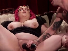 dominant chick makes him submit to her