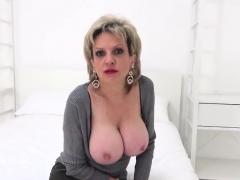 Unfaithful British Mature Gill Ellis Displays Her Heavy Ball