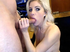 pov blowjob from a blonde babe girlfriend in homemade video WWW.ONSEXO.COM