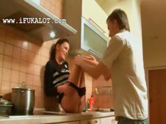 oral-bang-on-the-kitchen-unit-with-ivana