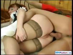 chubby-redhead-housekeeping-woman