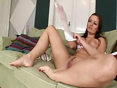 Tereza Plays With Her Feet
