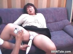 Old Horny Brunette Asian Woman Part5