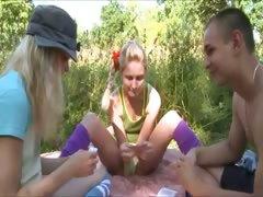 precize-amateur-threesome-in-the-garden