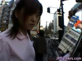 Naughty Asian girl is pissing in public part4