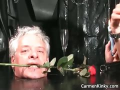 Older Guy Is Sex Slave To Two Dirty Part2