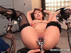 Asian Hot Sex Slave Twat Opened With Speculum In Close up