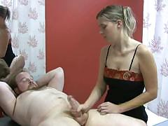 Masseuse Is Focused In Masturbating Her Client For Extra