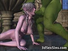 3d ogres fuck elf girls!