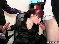 Cocksucking Old Lady Riding Cock