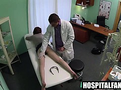 Foxy Brunette Patient Gets Massaged By Her Doctor