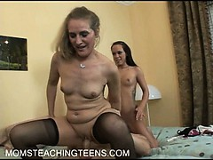 woman haley starts with a dildo but learns with a real cock