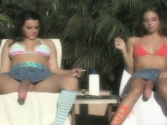 Two Hot Brunette Babes Getting Horny Part2