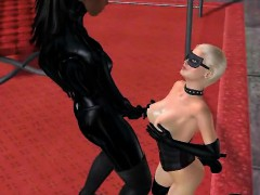 Sexy 3d Blonde Babe Getting Fisted By An Ebony Babe