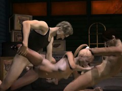 Hot 3d Blonde Babe Enjoying Getting Double Teamed