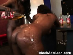 Big Booty Black Slut Riding Dick And Taking Facial