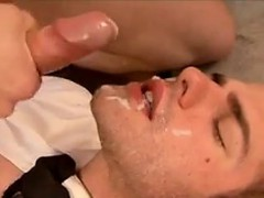 Handsome Guy Swallowing A Lot Of Cum