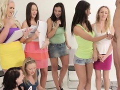 Clothed Art Students Ridicule Nude Model