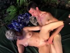 Slutty Granny Takes Young Cock