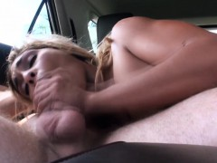 Real Stranded Amateur Spoils Driver With Blowjob