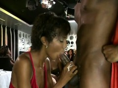 Young Hot Black Girl Loves Sucking Huge Cock