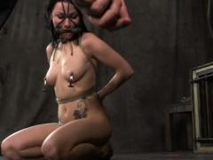 Muzzled Sub Veruca James Nipple Torture