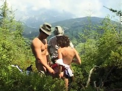 Extreme Threesome Sex In Nature