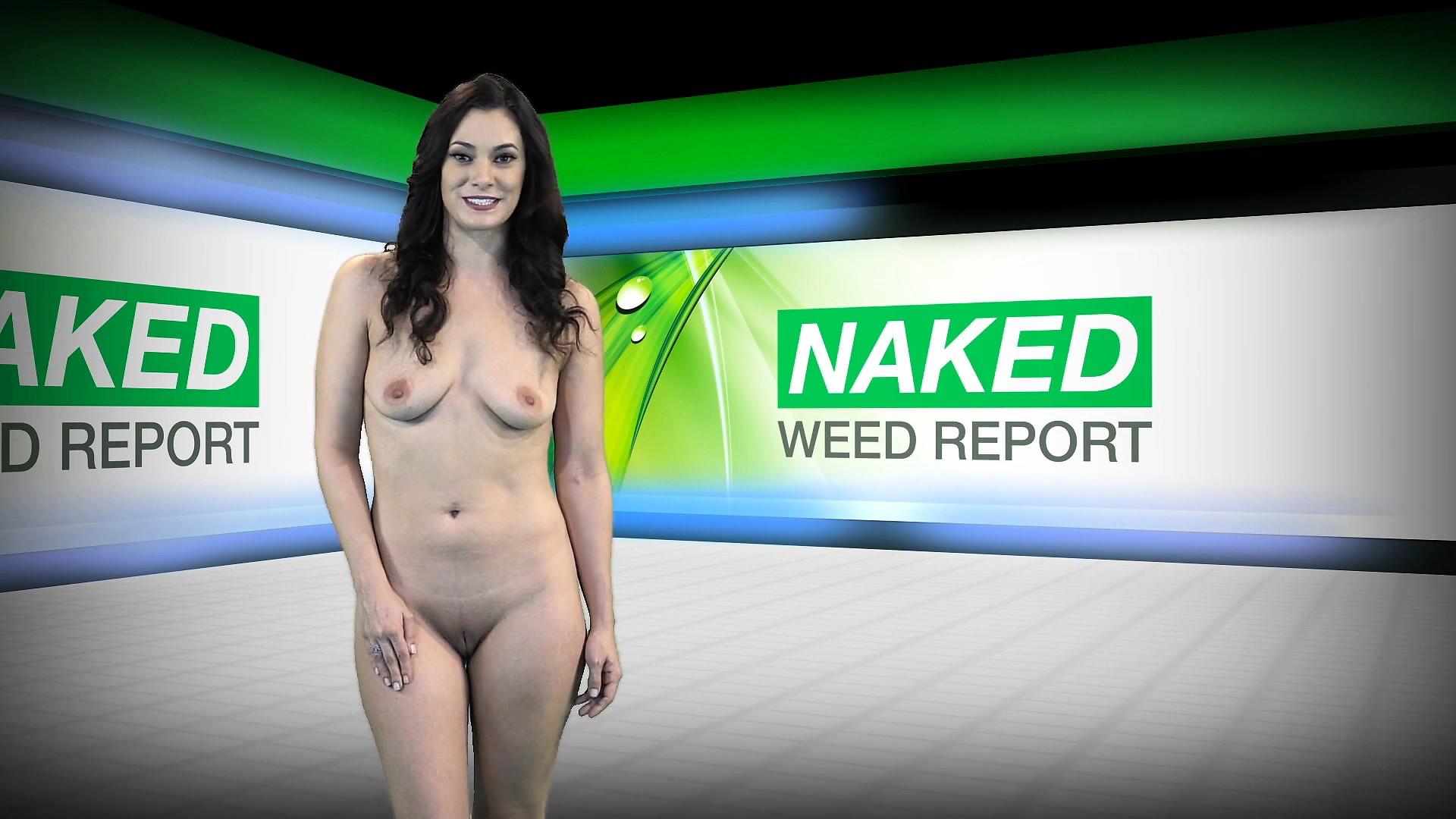 Blonde naked weed