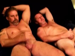 Straight Redneck Bears Together Wanking