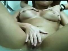 Bath Time! Lesbian Chicks Make A Bath