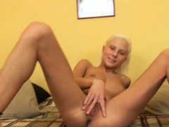 Katya Caresses And Shakes Her Firm Ass. Lying On Her Back,