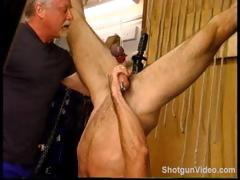 Jim Roberts Suspended Upside Down Stuffed With A Big Dildo