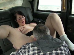 Busty Amateur Pussy Fucked And Creampied By Pervert Driver