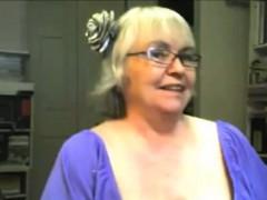 Cute Blonde Granny Show Us Her Skills