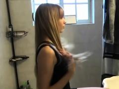 long-haired-ex-girlfriend-sucking-dick-on-the-bathroom-floor