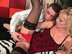 Highly Sexed Granny Makes Her Toy Boy Cum On Her Face
