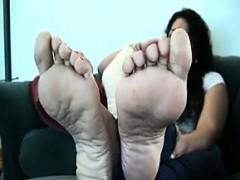 Mature Womans Beautiful Feet Teasing
