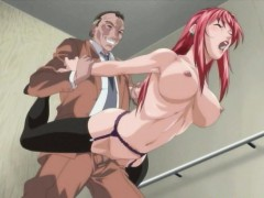 Big Titted Hentai Redhead Sucks And Gets Fucked Deep