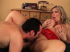 Glaze Mom's Big Tits With Cum