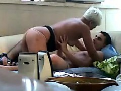 Very Old Prostitute Has Fun With A Young Guy