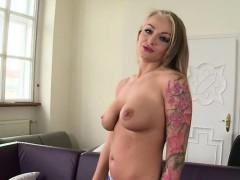 Busty Girlfriend First Cum Swallow
