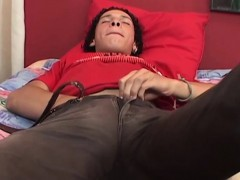 Solo Latin Twink Masturbating And Cumswallows