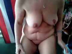 chubby-wife-working-her-body-out-at-home
