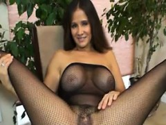 Hairy And Busty Milf Does A Striptease