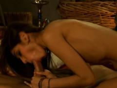 Erotic Brunette Milf Blows