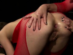 Lesbian Mistress Uses New Strapon