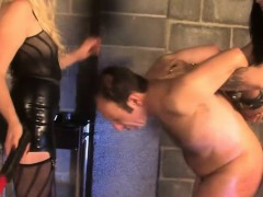 Painful Bdsm Threeway With Young Domina Duo