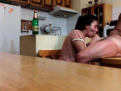 cock-sucking-on-the-kitchen-table